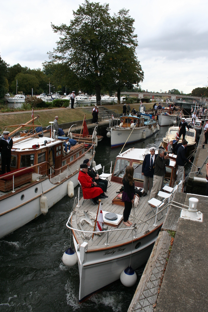 Helping out as a volunteer at a lock during a busy time, like this Assocation of Dunkirk Little Ships outing at Molese Lock, can be a very satisfying experience.
