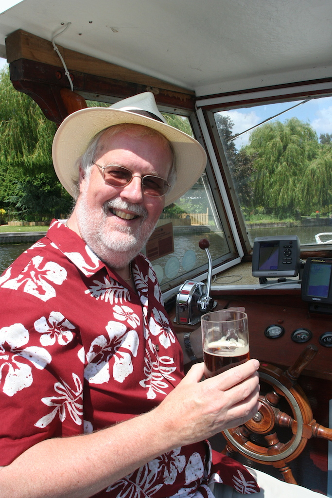 Toasting the Terra Nova: Mort Smith, where he loves to be.