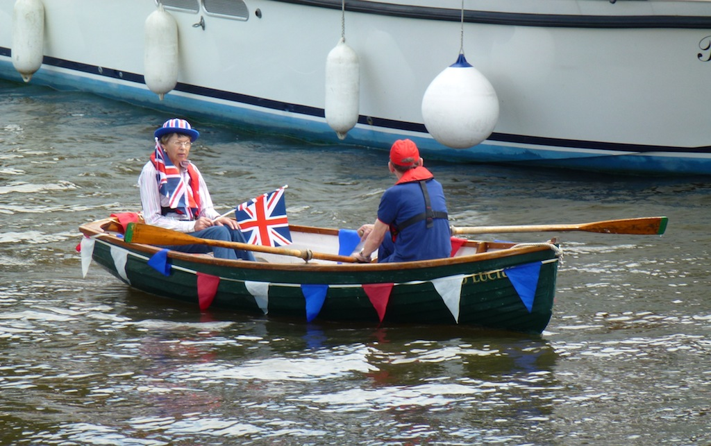 Boats of all sizes took part