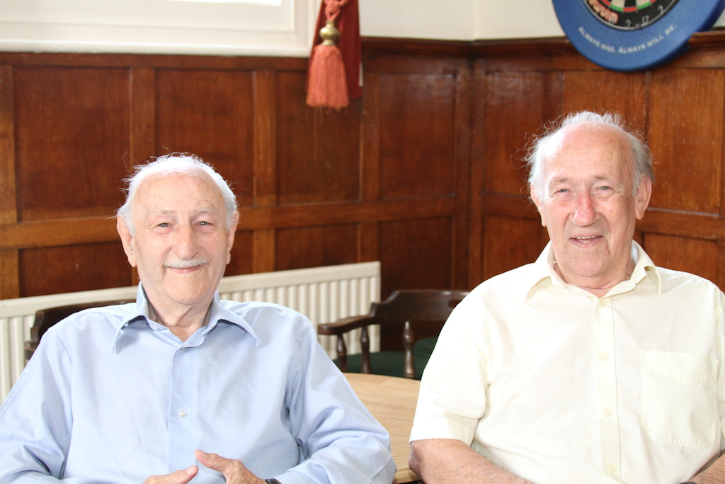 Ack-ack attack: The journey home from a dance at the Walton Playhouse in September 1940 proved quite hairy for Jimmy, left, and Billy Brant, but fortunately they lived to tell the tale.