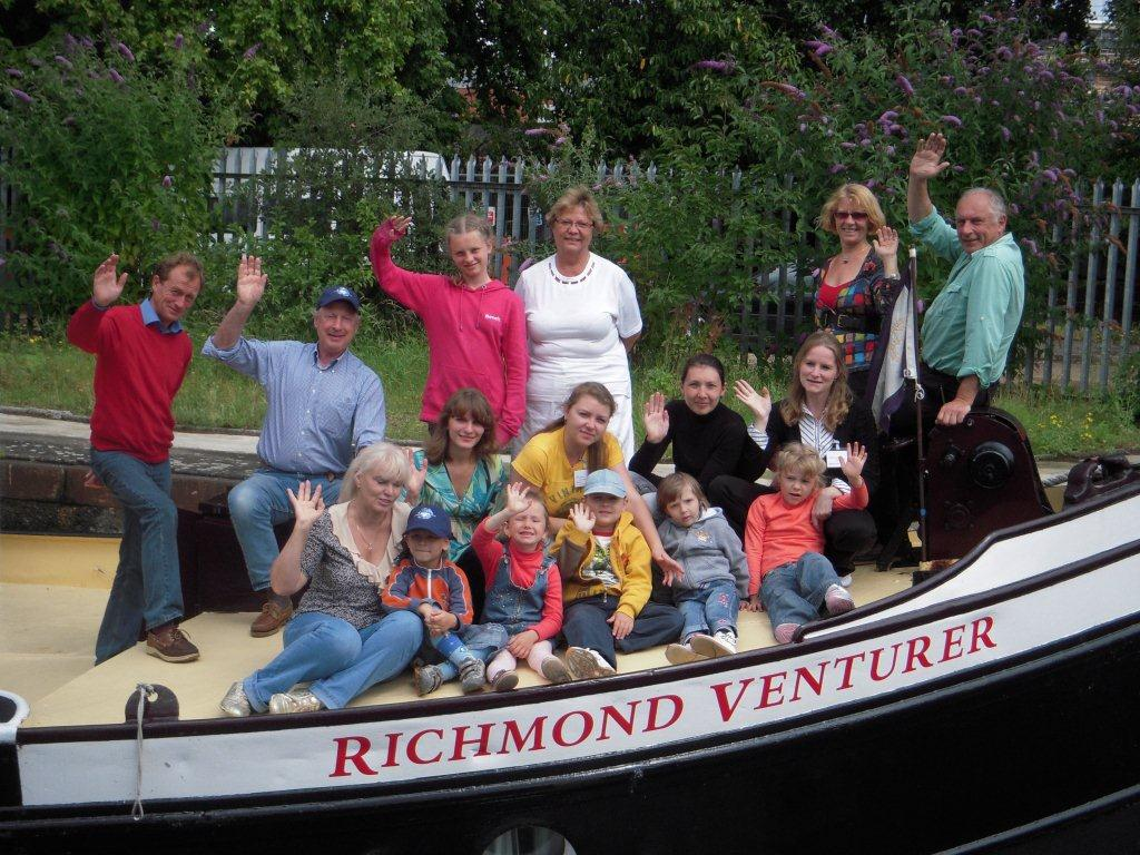 The Chernobyl mums and their children relax aboard the Richmond Venturer