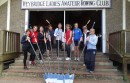 The intrepid crew will be paddling 116 miles along the Thames to raise money for two good causes.