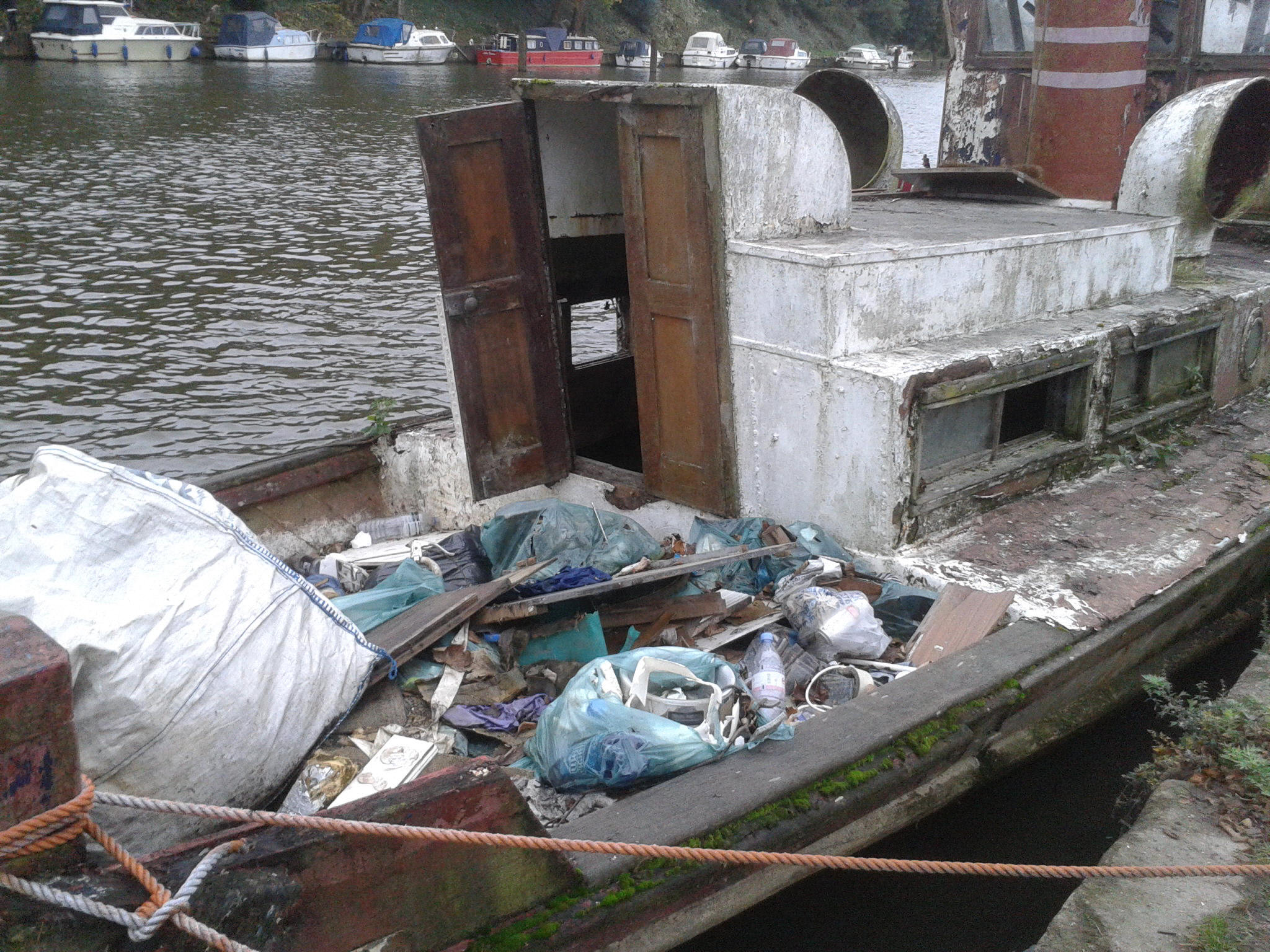Sad sight: In a very sad state — the boat appears to have been used as a dumping ground.