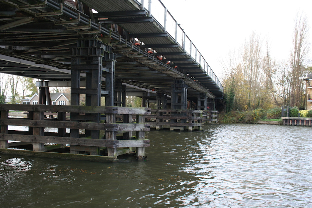 Not missed: Boat skippers will be delighted to see the back of the old bridges whose supporting piers made navigating around the bend in the river a tricky business.