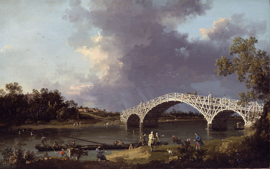 The first Walton Bridge, as painted by Canaletto
