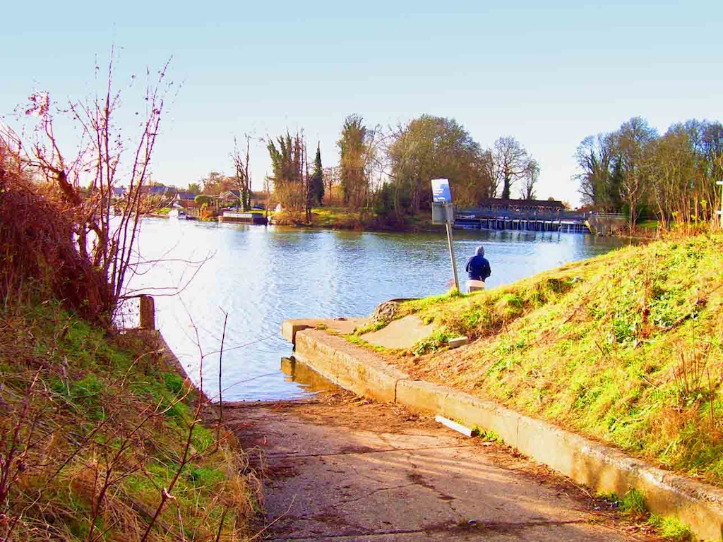 Weybridge Sailing Club's slipway
